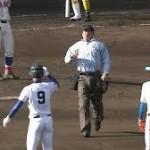 サイン盗み?秀岳館 球審から注意受けた 二塁走者の手の動きが…