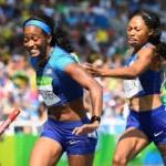 米代表、バトン落下で異例のタイムトライアルへ 女子400mリレー