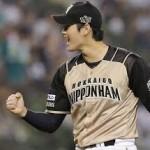日本ハム、4年ぶりパ制覇 大谷が15奪三振の快投